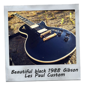 Beautfiul black 1988 Gibson Les Paul custom